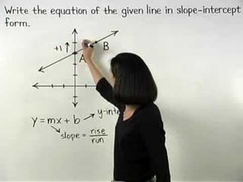 Writing Linear Equations - YourTeacher.com - Algebra Help