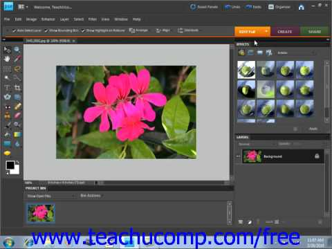 Photoshop Elements 9.0 Tutorial Edit Modes Adobe Training Lesson 3.1