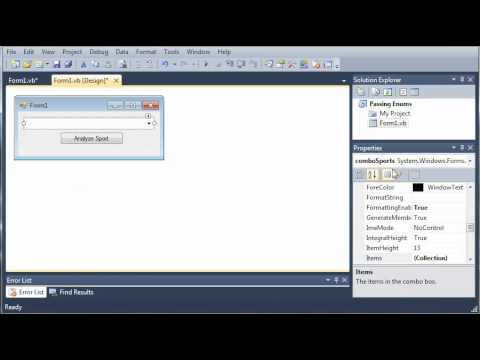 Visual Basic Tutorial - 71 - Passing Enumerations As Parameters