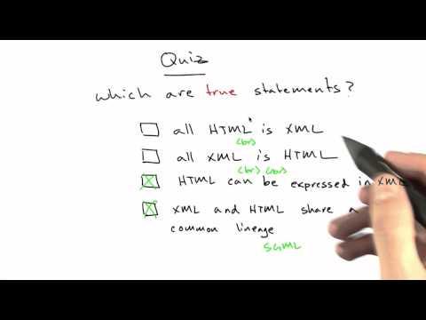 Xml And Html Solution - CS253 Unit 5 - Udacity