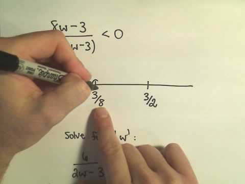 Solving a Rational Inequality, More Examples - Example 2