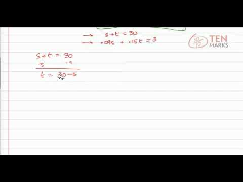 Solve Mixture Problems Using Systems