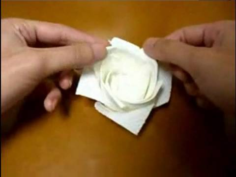 origami rose kitchen papertowel