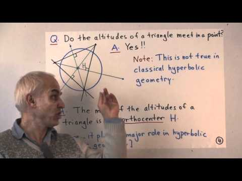 UnivHypGeom4: First steps in hyperbolic geometry