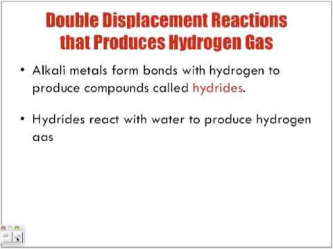 Reactions of Aqueous Solutions Forming Hydrogen Gas