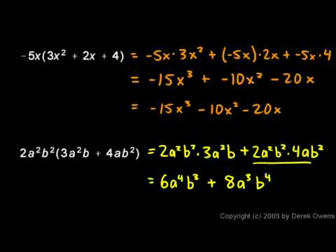 Prealgebra 10.4b - Multiplying a Monomial and a Polynomial