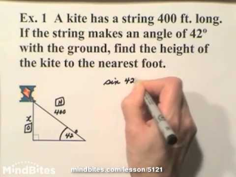 Trig: Word Problems - Sine, Cosine & Tangent  305