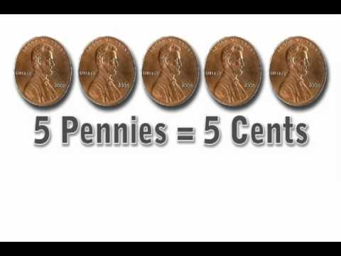 Vids4Kids.tv - 5 Cents - Learn To Count Pennies