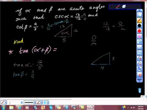 Trigonometry Addition and Subtraction Formulas for Tan Tangent
