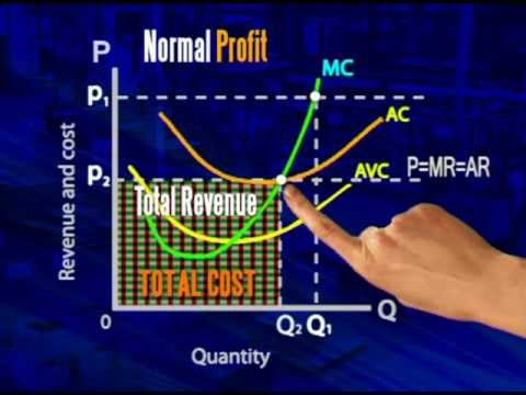 Perfect competition:  Normal profits
