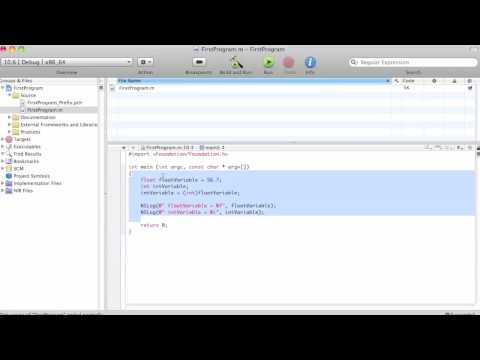 Objective-C Tutorial - Lesson 4: Part 2: Cast Operator & Sizeof Operator