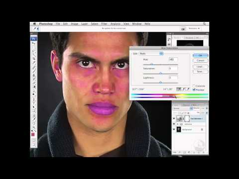 Photoshop: Reducing subtle red skin tones | lynda.com