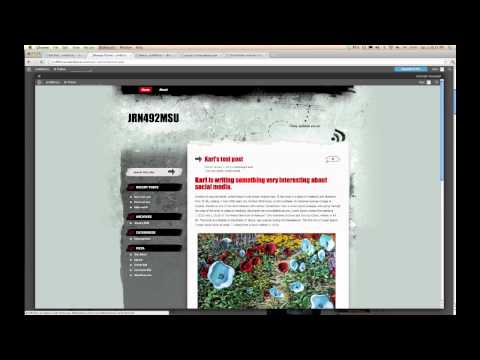 Wordpress.com: How to change the theme (overall look) of your blog