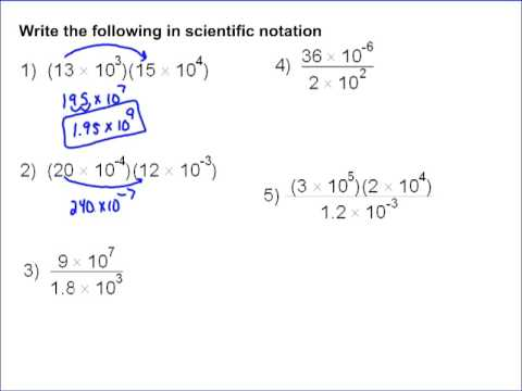 Scientific Notation Part 2