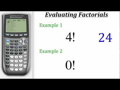 TI Calculator Tutorial: Factorials