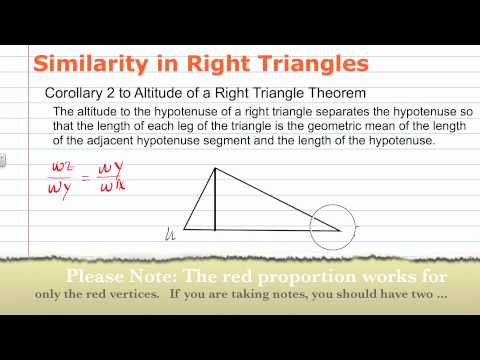 Similarity in Right Triangles | Geometry How to Help