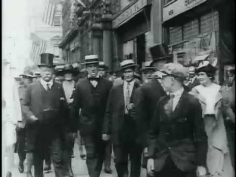 Theodore Roosevelt on Fifth Avenue, New York, near St. Patricks Cathedral