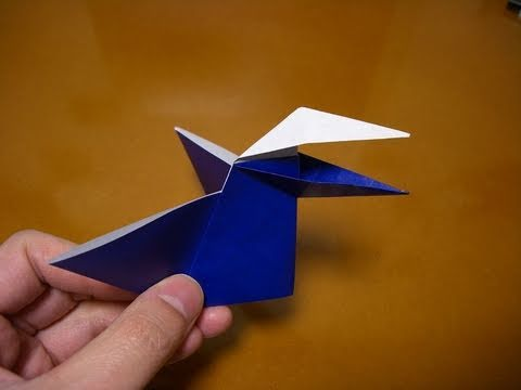 origami talking bird