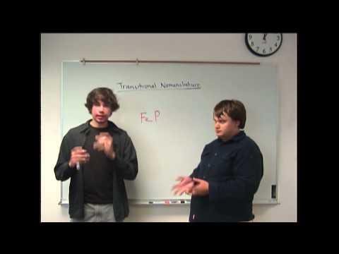 Transitional Elements Nomenclature Concept
