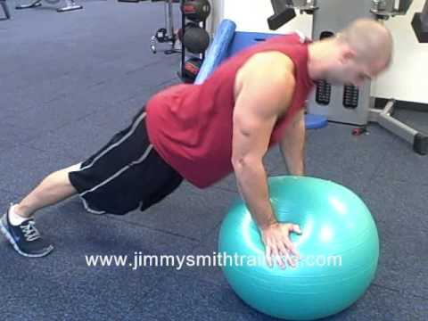 Stability Ball Push Ups
