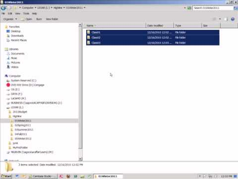 Office 2010 Class #03: Creating System Of Folders For File Management Using Windows Explorer