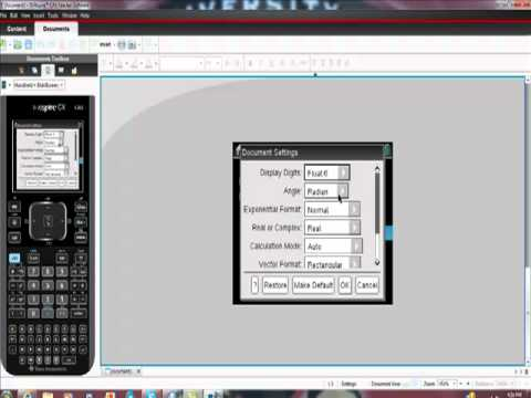 Using Trigonometric Functions on Your Ti-NSpire CAS CX Shortcuts