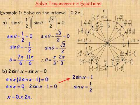 Solve Trigonometric Equations Part 1
