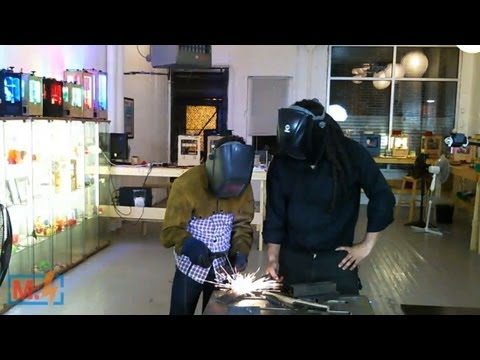 Welding with Hackett on Make: Live ep14