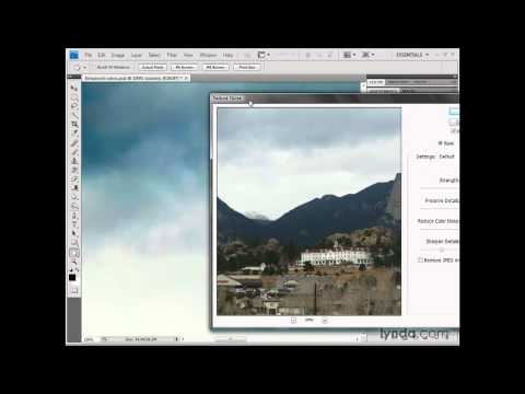 Photoshop: Reducing the noise in the sky   lynda.com