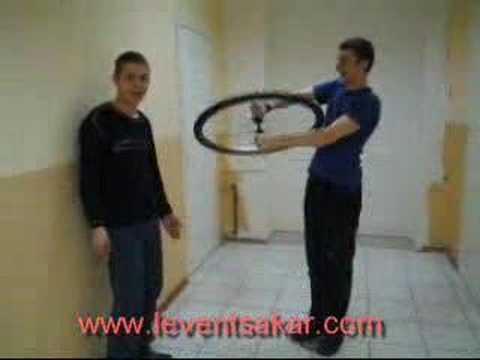 Rotating Stool and Bicycle Wheel 2