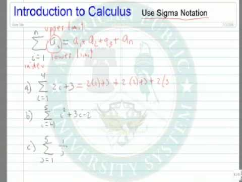Use Sigma Notation