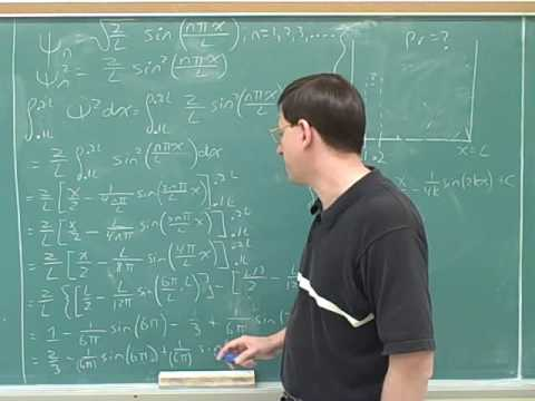 Particle in a box. Quantum numbers (5)