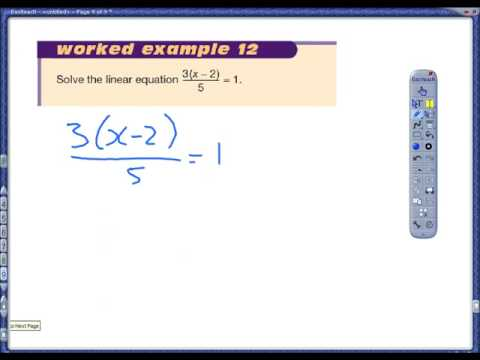 Solving more complex linear equations