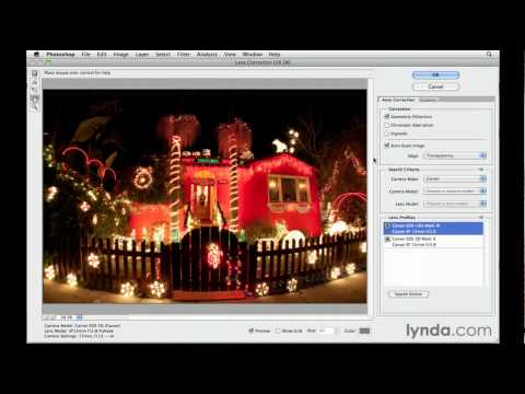 Photoshop CS5: Using the Lens Correction filter | lynda.com tutorial