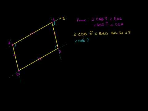 Proof - Opposite Angles of Parallelogram Congruent