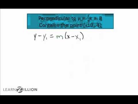 Write the equations of perpendicular lines - A-CED.2