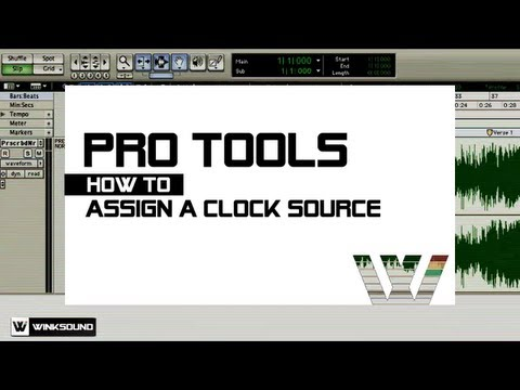 Pro Tools: How To Assign A Clock Source | WinkSound