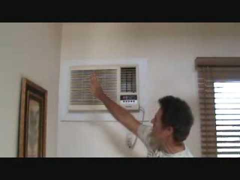 Wall mount AC unit: what's the air swing control for?