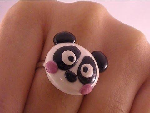 Polymer Clay Panda Ring