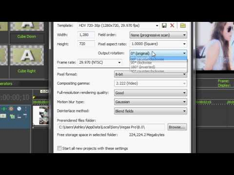 Sony Vegas Tutorial ll Rendering Settings