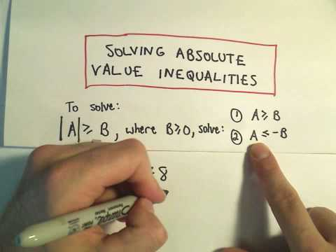 Solving Absolute Value Inequalities - Example 1