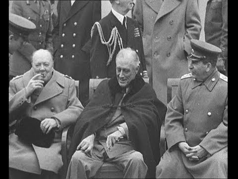 The Big Three : Churchill, Stalin and Roosevelt Meet (1945)