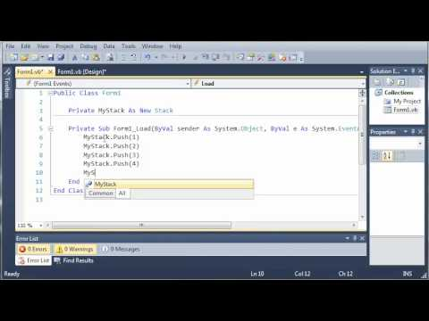 Visual Basic Tutorial - 84 - Stacks