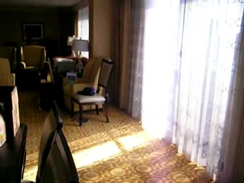 Presidential Suite at the Portland Waterfront Marriott Hotel with view of the Willamette River