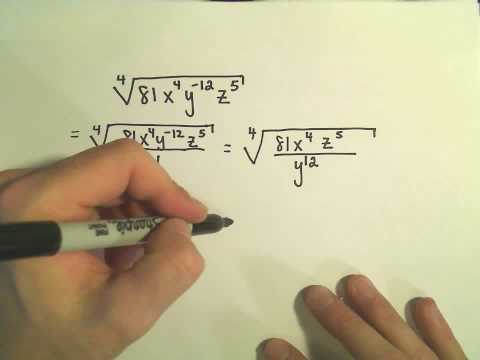Simplifying Radical Expressions Involving Variables - Example 3