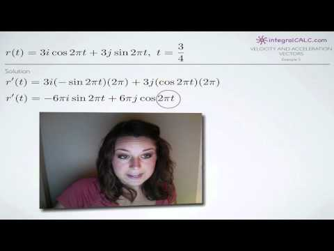 Velocity and Acceleration Vectors Example 5