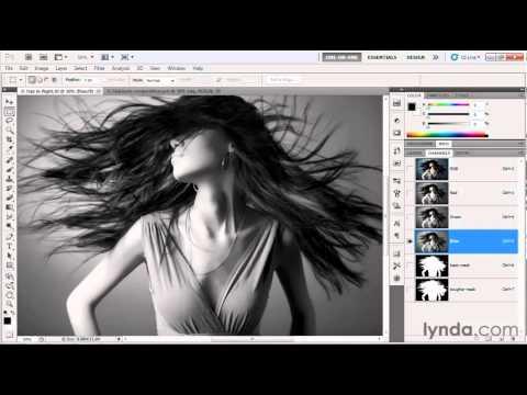 Photoshop tutorial: Making a base alpha channel | lynda.com