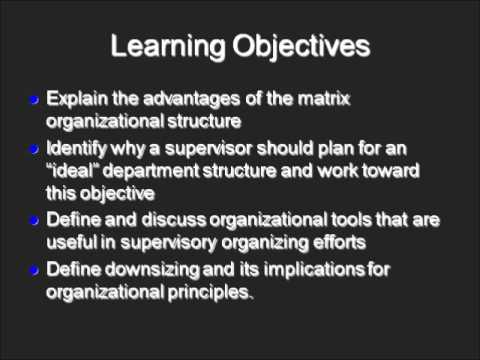 Supervisory Organizing - Chapter 8 Part 1