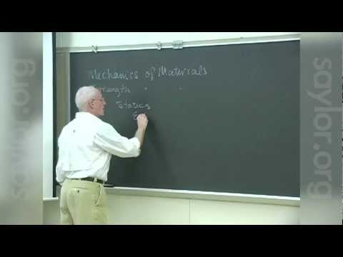 Saylor ME102: Mechanics of Materials- Introduction