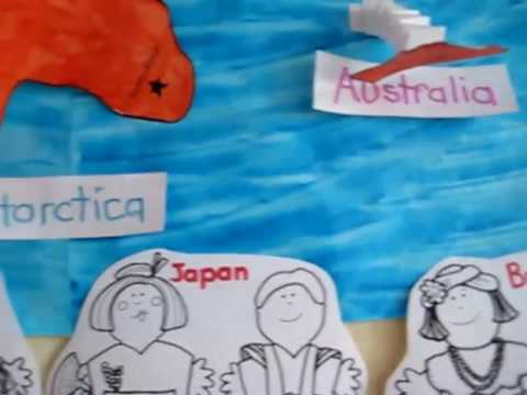 Preschool - Social Studies. World map